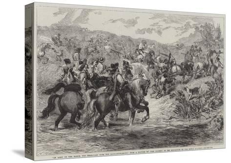 An Army on the March-Sir John Gilbert-Stretched Canvas Print