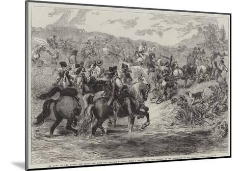 An Army on the March-Sir John Gilbert-Mounted Giclee Print