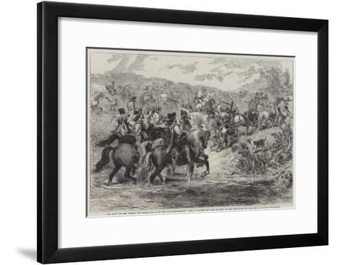 An Army on the March-Sir John Gilbert-Framed Art Print