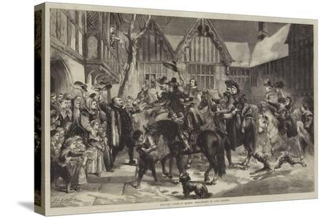 Welcome Guests at Mardon Hall-Sir John Gilbert-Stretched Canvas Print