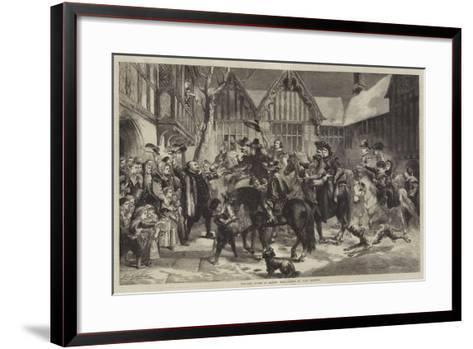 Welcome Guests at Mardon Hall-Sir John Gilbert-Framed Art Print