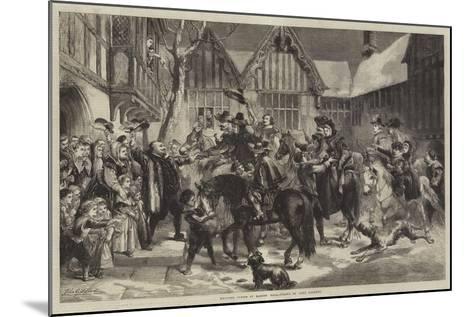 Welcome Guests at Mardon Hall-Sir John Gilbert-Mounted Giclee Print
