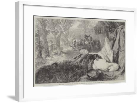 Dead Swan and Peacock-Sir John Gilbert-Framed Art Print