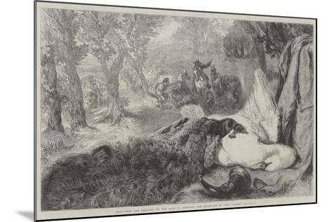 Dead Swan and Peacock-Sir John Gilbert-Mounted Giclee Print