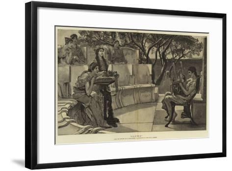 Sappho-Sir Lawrence Alma-Tadema-Framed Art Print