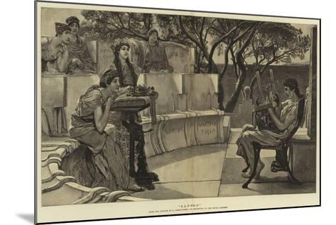 Sappho-Sir Lawrence Alma-Tadema-Mounted Giclee Print