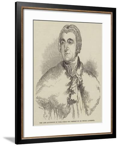 The Late Archbishop of York-Thomas Lawrence-Framed Art Print