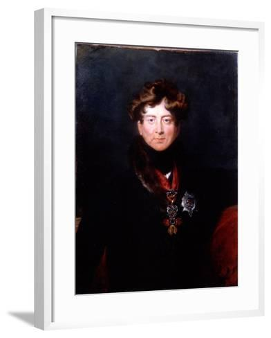 King George IV, 1820s-Thomas Lawrence-Framed Art Print