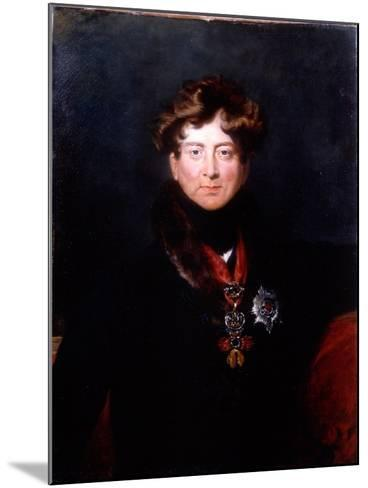 King George IV, 1820s-Thomas Lawrence-Mounted Giclee Print