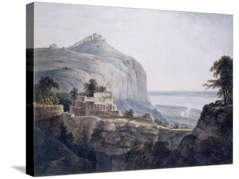 The North West View of Rohtasgarh, Bihar-Thomas & William Daniell-Stretched Canvas Print