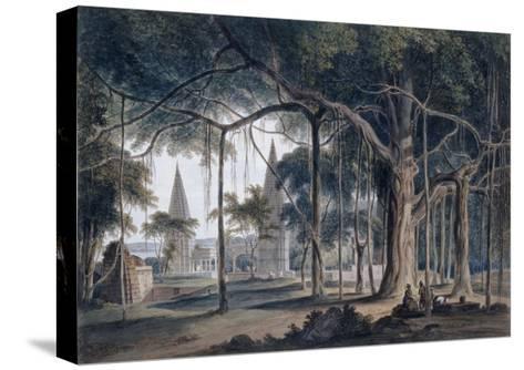 Hindu Temples at Agori, Uttar Pradesh-Thomas & William Daniell-Stretched Canvas Print