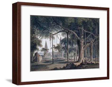 Hindu Temples at Agori, Uttar Pradesh-Thomas & William Daniell-Framed Art Print
