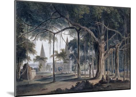 Hindu Temples at Agori, Uttar Pradesh-Thomas & William Daniell-Mounted Giclee Print
