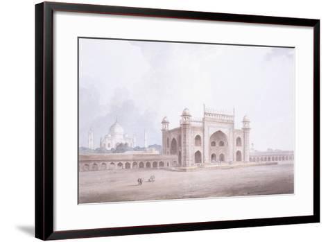 The Gateway of the Taj Mahal, Agra, Uttar Pradesh-Thomas & William Daniell-Framed Art Print