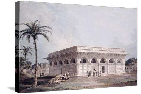 The Chaunsath Khamba Nizamuddin, Delhi-Thomas & William Daniell-Stretched Canvas Print