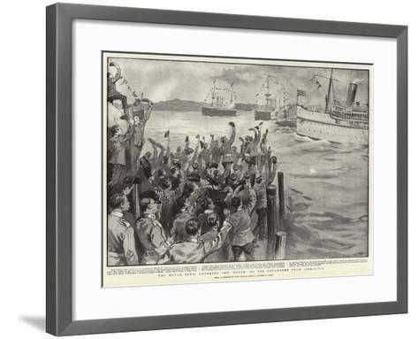 The Royal Tour, Cheering the Ophir on Her Departure from Gibraltar-Sydney Prior Hall-Framed Art Print