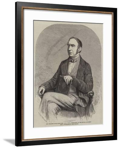 Sir Charles Lock Eastlake, Dcl, Frs, President of the Royal Academy-Thomas Harrington Wilson-Framed Art Print