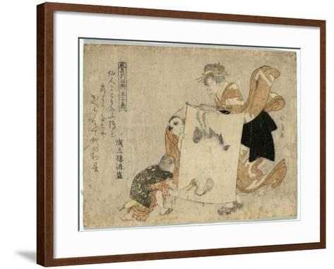Oshikyo-Teisai Hokuba-Framed Art Print
