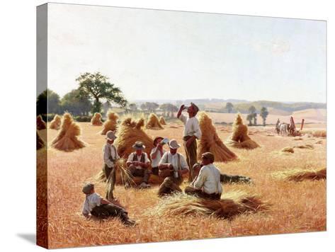 Harvesters Resting, 1898-Thomas Frederick Mason Sheard-Stretched Canvas Print
