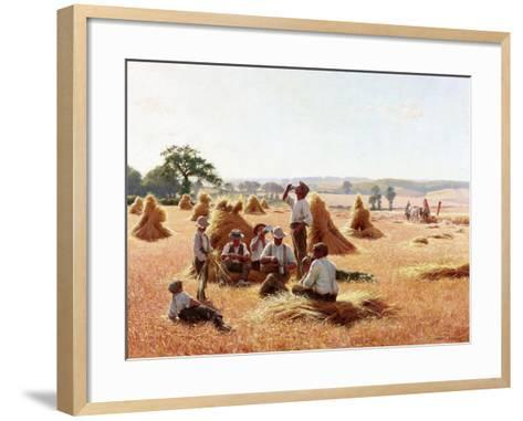 Harvesters Resting, 1898-Thomas Frederick Mason Sheard-Framed Art Print
