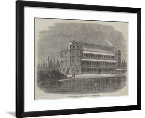 St Thomas's Hospital, Surrey Gardens-Thomas Harrington Wilson-Framed Art Print