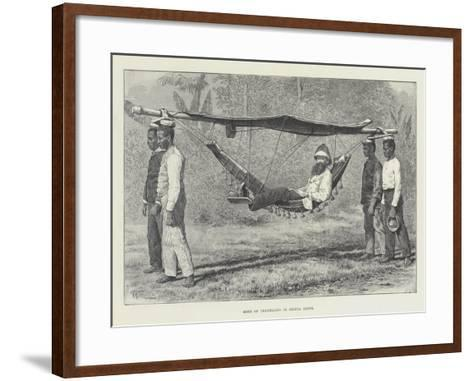 Mode of Travelling in Sierra Leone-Thomas Harrington Wilson-Framed Art Print