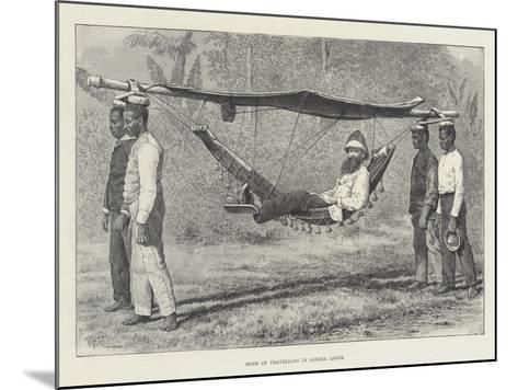 Mode of Travelling in Sierra Leone-Thomas Harrington Wilson-Mounted Giclee Print