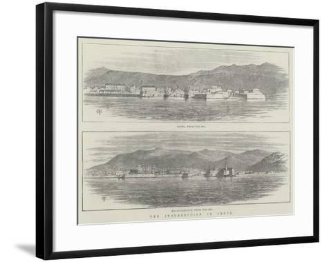 The Insurrection in Crete-Thomas Harrington Wilson-Framed Art Print