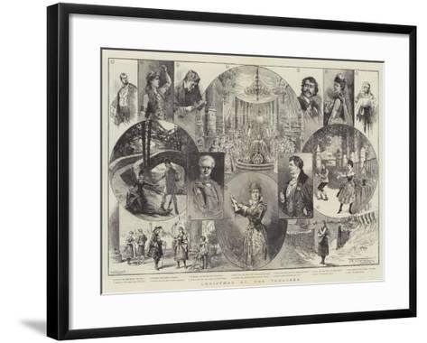 Christmas at the Theatres-Thomas Harrington Wilson-Framed Art Print
