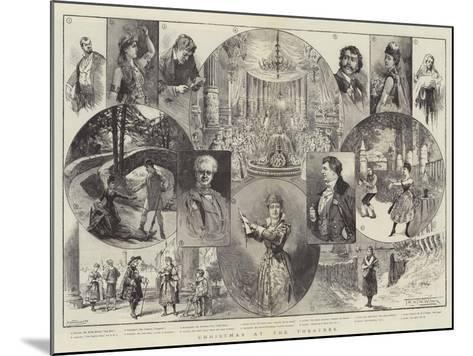 Christmas at the Theatres-Thomas Harrington Wilson-Mounted Giclee Print