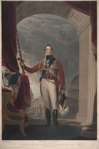 The Duke of Wellington, 1818-Thomas Lawrence-Stretched Canvas Print