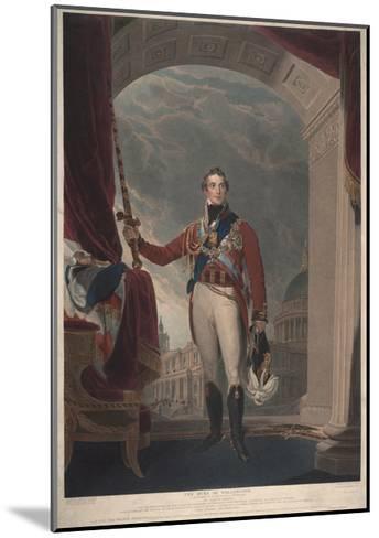 The Duke of Wellington, 1818-Thomas Lawrence-Mounted Giclee Print