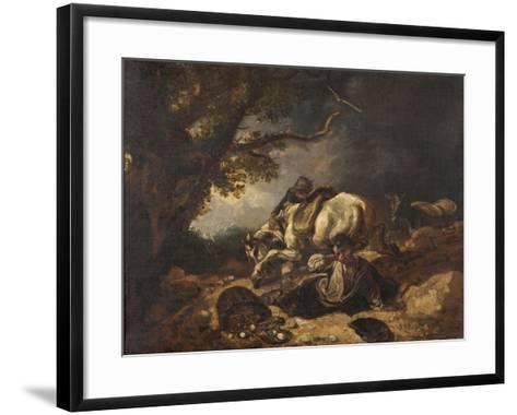 A Mishap to Market Eggs-Thomas Barker-Framed Art Print