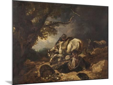 A Mishap to Market Eggs-Thomas Barker-Mounted Giclee Print