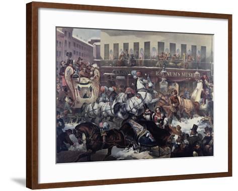 Sleighing in New York 1855-Thomas Benecke-Framed Art Print