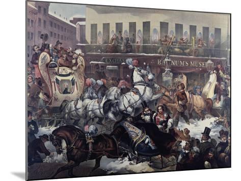 Sleighing in New York 1855-Thomas Benecke-Mounted Giclee Print