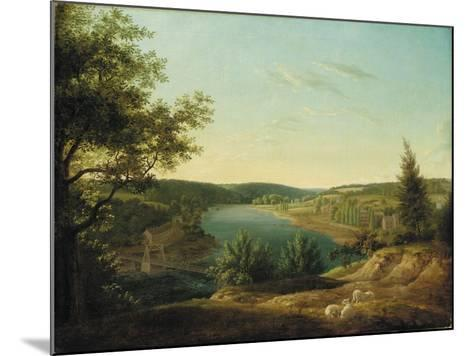 View of the Chain Bridge and Falls of the Schuylkill, Five Miles from Philadelphia-Thomas Birch-Mounted Giclee Print