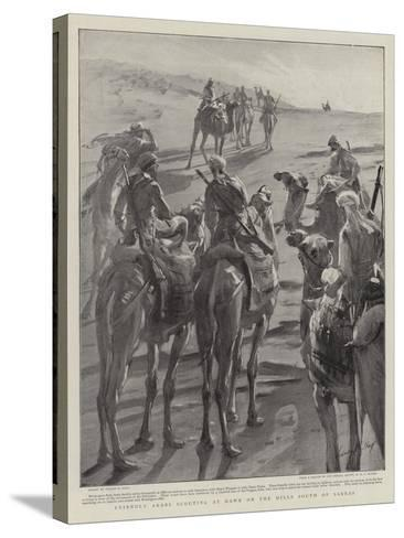 Friendly Arabs Scouting at Dawn on the Hills South of Sarras-Sydney Prior Hall-Stretched Canvas Print