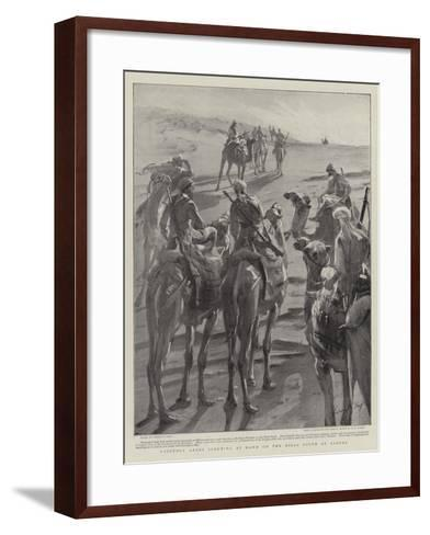 Friendly Arabs Scouting at Dawn on the Hills South of Sarras-Sydney Prior Hall-Framed Art Print