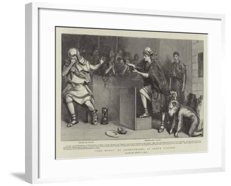 The Wasps of Aristophanes at King's College-Sydney Prior Hall-Framed Art Print
