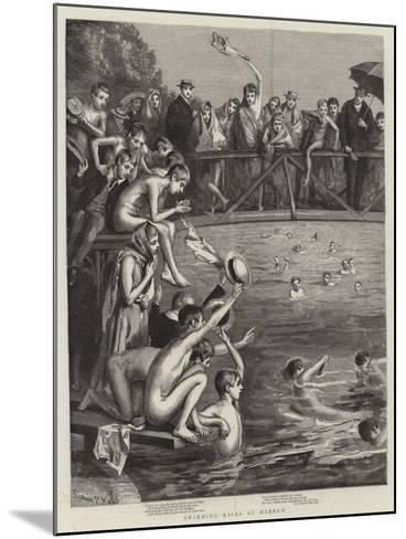 Swimming Races at Harrow-Sydney Prior Hall-Mounted Giclee Print