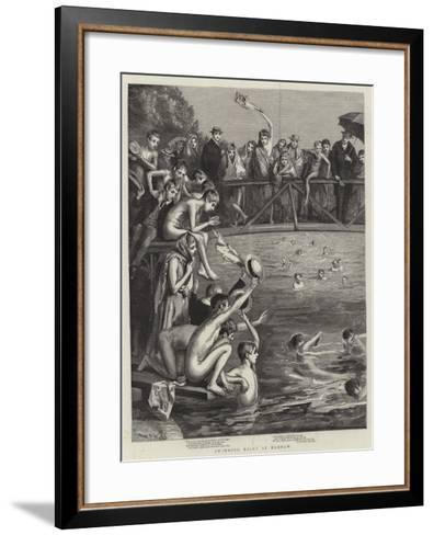 Swimming Races at Harrow-Sydney Prior Hall-Framed Art Print