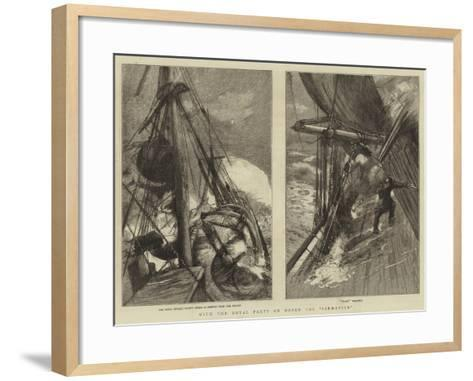 With the Royal Party on Board the Sarmatian-Sydney Prior Hall-Framed Art Print