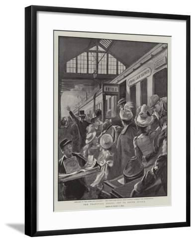 The Transvaal Crisis, Off to South Africa-Sydney Prior Hall-Framed Art Print