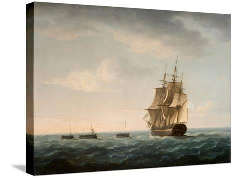 Rescue of the Guardian's Crew by a French Merchant Ship, 2nd January 1790-Thomas Buttersworth-Stretched Canvas Print