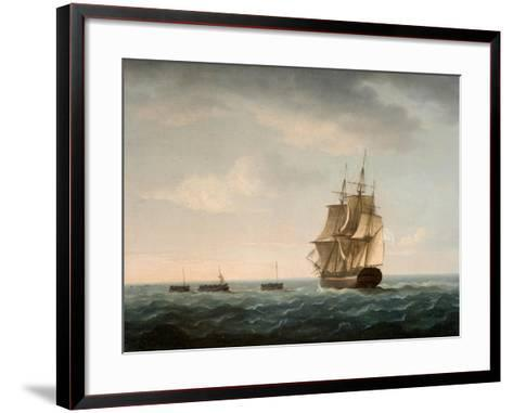 Rescue of the Guardian's Crew by a French Merchant Ship, 2nd January 1790-Thomas Buttersworth-Framed Art Print
