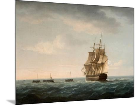 Rescue of the Guardian's Crew by a French Merchant Ship, 2nd January 1790-Thomas Buttersworth-Mounted Giclee Print