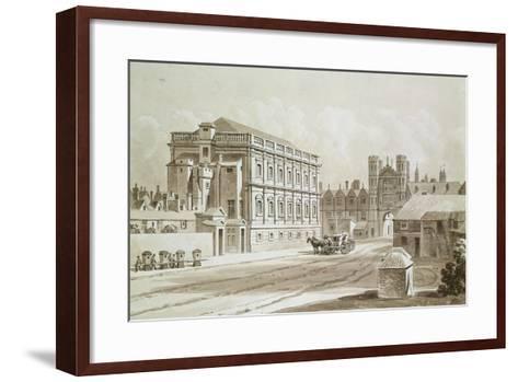 Banqueting House and King's Gate, 1827-Thomas Hosmer Shepherd-Framed Art Print