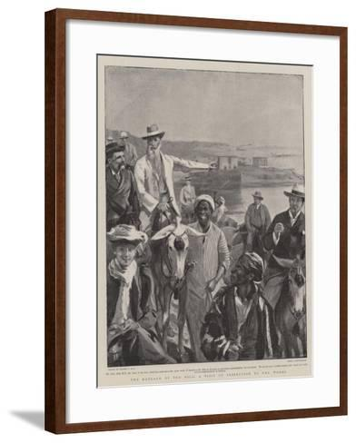 The Barrage of the Nile, a Visit of Inspection to the Works-Sydney Prior Hall-Framed Art Print