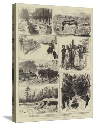 Canadian Sketches, a Moose-Hunting Expedition, on the Road-Sydney Prior Hall-Stretched Canvas Print